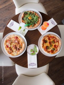 pizza and cocktails